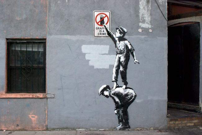 Banksy vs New York con un graffito al giorno