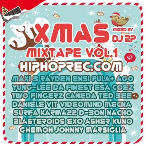Xmas Vol. 1 Cover-HIPHOPREC.com-Xmas-Mixtape-Vol.1